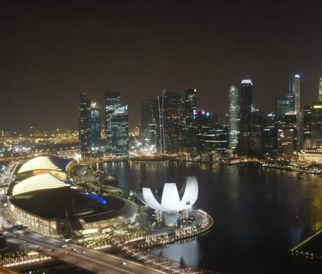 Singapore Marina Bay from the circle